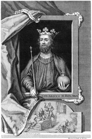 Edward II of England. 18th Century by George Vertue