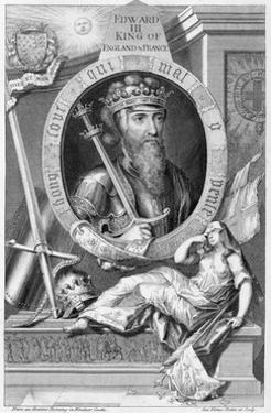 Edward III, 14th century King of England, (18th century) by George Vertue