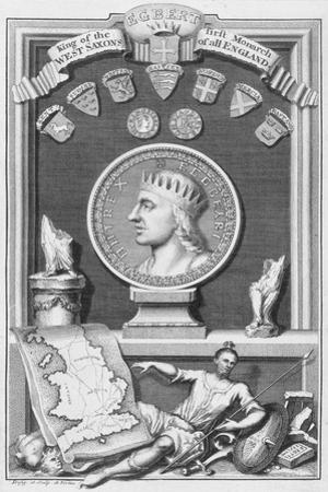 Egbert, King of the West Saxons and first monarch of all England, (18th century) by George Vertue