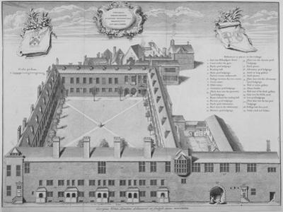 Gresham College, City of London, 1740 by George Vertue