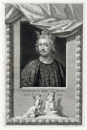 John, King of England, (18th century) by George Vertue