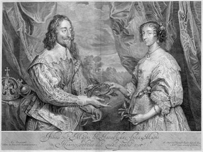 King Charles I and Queen Henrietta Maria, 1634 (1742) by George Vertue