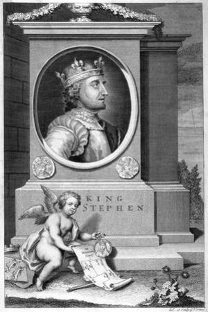 King Stephen (1096-115), 18th Century by George Vertue