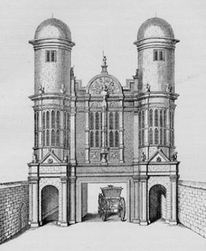 King Street Gate, Westminster, c1725 (1911) by George Vertue