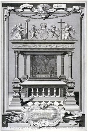 Monument to King Edward VI, Chapel of Henry VII, Westminster Abbey, London, C1740 by George Vertue