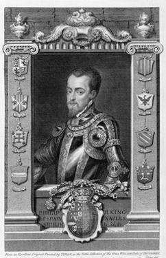 Philip II, King of Spain from 1556, (1735) by George Vertue