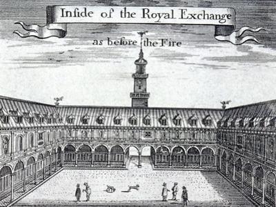 Royal Exchange (1S) Interior, London, 1739 by George Vertue