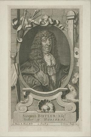 Samuel Butler in Wig and Robes, 1744 by George Vertue