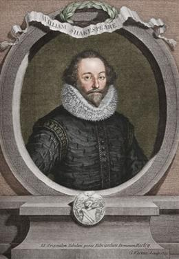 William Shakespeare (1564-1616), English poet and playwright, 1721, (1913) by George Vertue