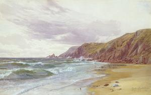 Dale, Pembrokeshire, July 1866 (W/C on Paper) by George Vicat Cole
