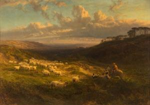 The Closing Day, Scene in Sussex, 1872 by George Vicat Cole