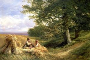 The Harvesters, 1881 by George Vicat Cole