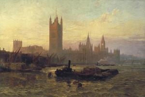 The Palace of Westminster, 1892 by George Vicat Cole