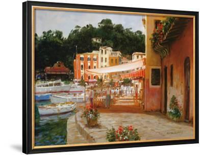Morning Stroll in Portofino by George W. Bates