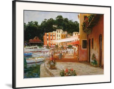 Morning Stroll in Portofino by George W. Bates