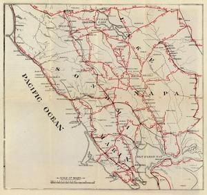 California: Sonoma, Marin, Lake, and Napa Counties, c.1896 by George W. Blum