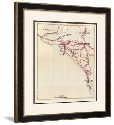 California: Ventura, Los Angeles, San Bernardino, Orange, and San Diego Counties, c.1896 by George W. Blum