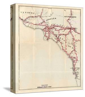 California: Ventura, Los Angeles, San Bernardino, Orange, and San Diego Counties, c.1896 by George W^ Blum