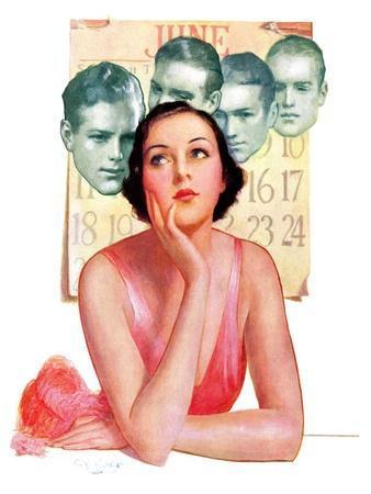 """Woman Dreaming of Beaus,""June 3, 1933"
