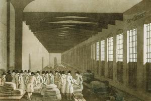 Interior of the Cloth Hall, Leeds, 1814 by George Walker