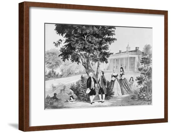 George Washington and General Lafayette Conversing--Framed Giclee Print