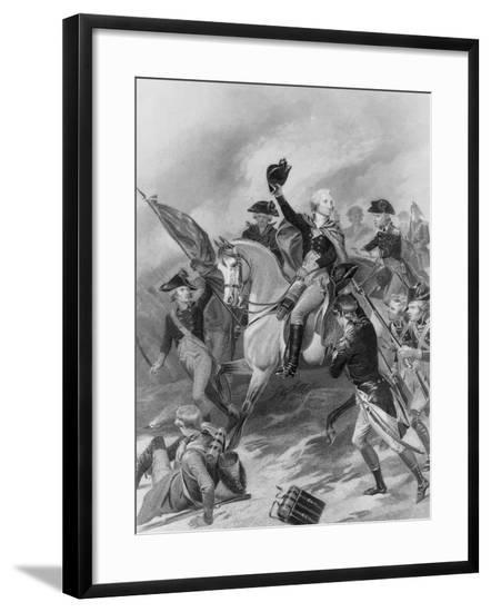 George Washington at the Battle of Princeton--Framed Giclee Print