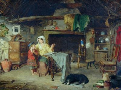 The Ettrick. Shepherd Boy Receiving his first impressions from his mother, 1858 by George Washington Brownlow