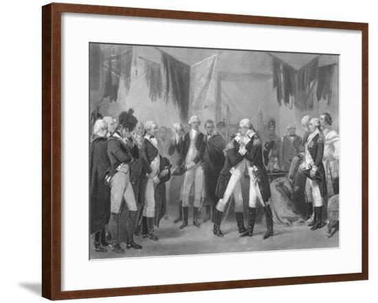 George Washington Saying Farewell--Framed Giclee Print