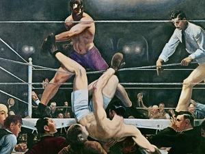 Dempsey v. Firpo in New York City, 1923, 1924 by George Wesley Bellows