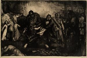 The Germans Arrive, 1918 by George Wesley Bellows