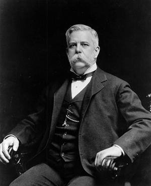 George Westinghouse Sitting in a Small Armchair