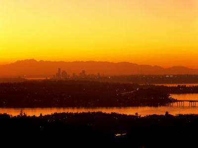 Seattle Skyline- Olympic Mountains, WA