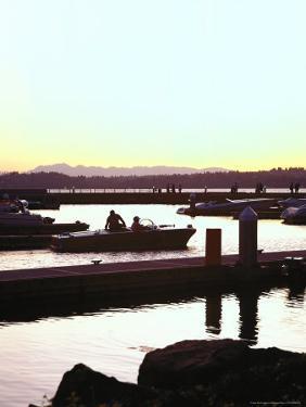 Sunset on Marina, Kirkland, WA by George White Jr.