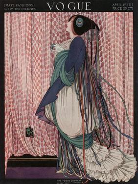 Vogue Cover - April 1915 by George Wolfe Plank