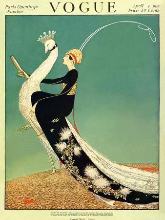 Vogue Cover - April 1918 - Peacock Parade