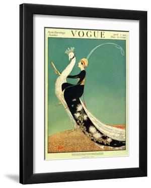 Vogue Cover - April 1918 by George Wolfe Plank