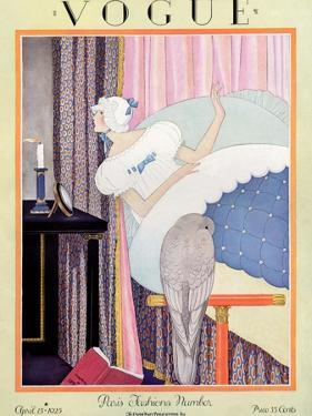 Vogue Cover - April 1925 by George Wolfe Plank