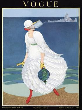Vogue Cover - August 1916 by George Wolfe Plank