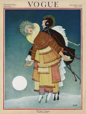 Vogue Cover - December 1920 by George Wolfe Plank