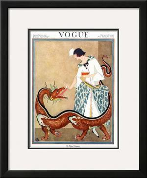 Vogue Cover - February 1923 by George Wolfe Plank