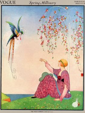 Vogue Cover - March 1914 by George Wolfe Plank