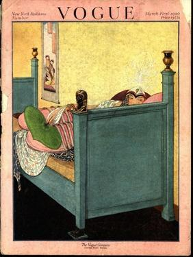 Vogue Cover - March 1920 by George Wolfe Plank
