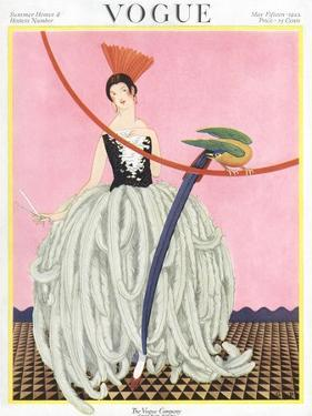 Vogue Cover - May 1922 by George Wolfe Plank