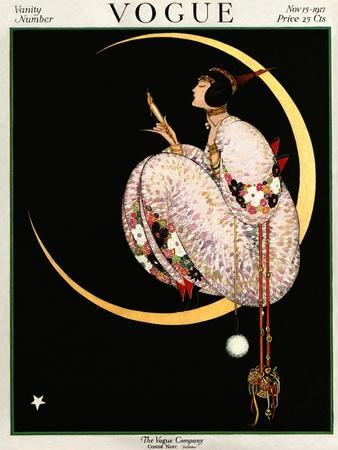 Vogue Cover - November 1917 - Moon and Mirror