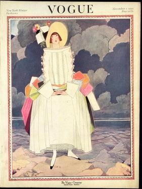 Vogue Cover - November 1922 by George Wolfe Plank