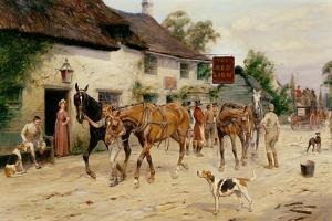 Changing Horses at the Red Lion by George Wright