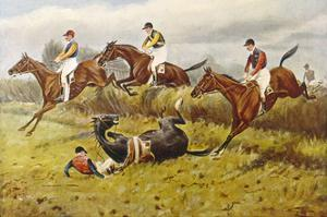 Steeplechase with Faller by George Wright