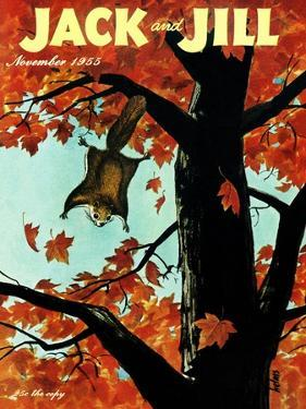 Flying Squirrel - Jack and Jill, November 1955 by Georgeann Helms