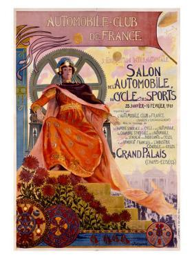 3rd Exposition of the Automobile Club de France by Georges Antoine Rochegrosse