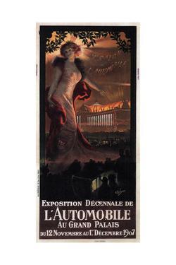 Exposition Décennale De L'Automobile Au Grand Palais, 1907 by Georges Antoine Rochegrosse